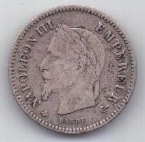 20 сантим 1867 г. Франция