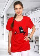 Красная женская футболка Чили