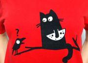 футболка с котиком
