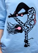 пуловер Fiesta с оригинальным бархатным рисунком
