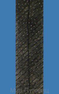 Нитепрошивная лента по косой со строчкой  Черная, 100м