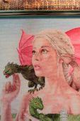Схема для вышивки крестом Матерь драконов. Отшив