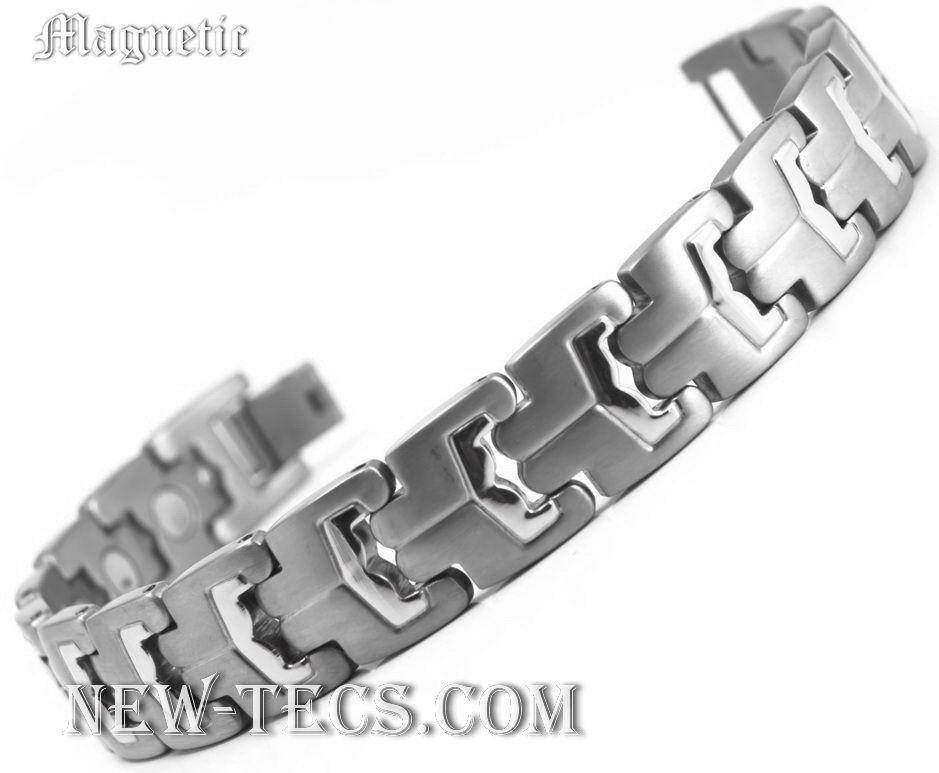 Титановый магнитный браслет TIB-0445SNT-W