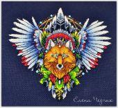 Схема для вышивки крестом Ловец снов - Лис1. Отшив