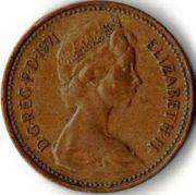 1 новый пенни.   1971 год.