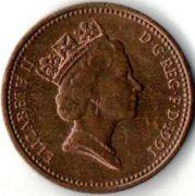 1 пенни. 1991 год.
