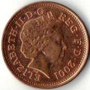 1 пенни. 2001 год.
