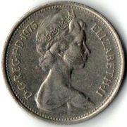 5 новых пенсов. 1975 год.