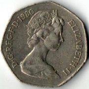 50 новых пенсов. 1980 год.