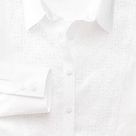 Женская рубашка белая с кружевами Charles Tyrwhitt приталенная Fitted (WA075WHT)