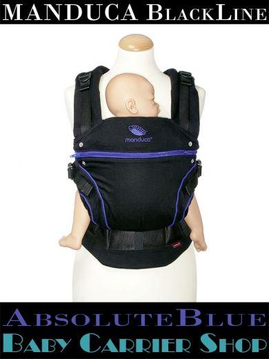 Слинг-рюкзак MANDUCA Baby And Child Carrier Эргорюкзак для переноски малышей «AbsoluteBlue BlackLine» [Мандука слингорюкзак Черный-Синий]
