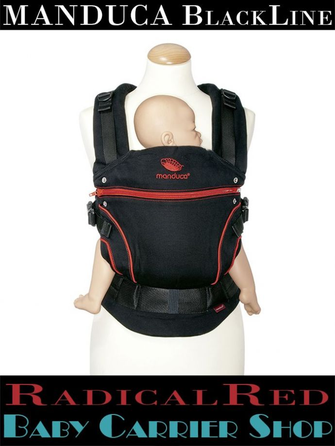Слинг-рюкзак MANDUCA Baby And Child Carrier Эргорюкзак для переноски малышей «RadicalRed BlackLine» [Мандука слингорюкзак Черный-Красный]