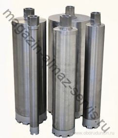 Алмазный колонковый бур ∅132мм. (для установки приточных клапанов)