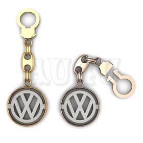 """Золотой брелок Фольксваген """"Volkswagen""""."""