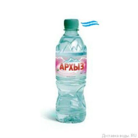Негазированная вода низкой минерализации Архыз 0,5 л
