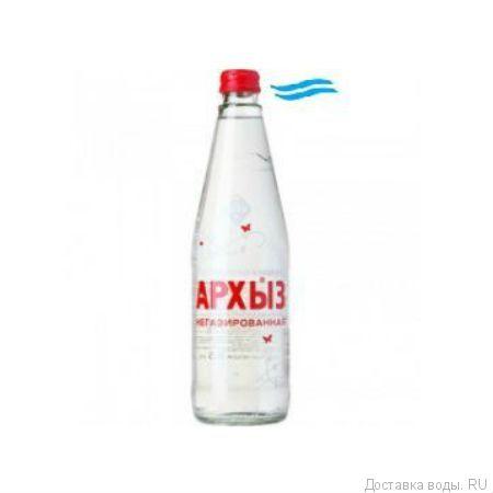 """Вода без газа низкой минерализации """"Архыз"""" 0,5 л в стекле ( в упаковке 20 шт)"""