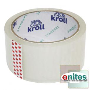 Упаковочная клейкая лента kroll standart прозрачная 48 х 50 мм