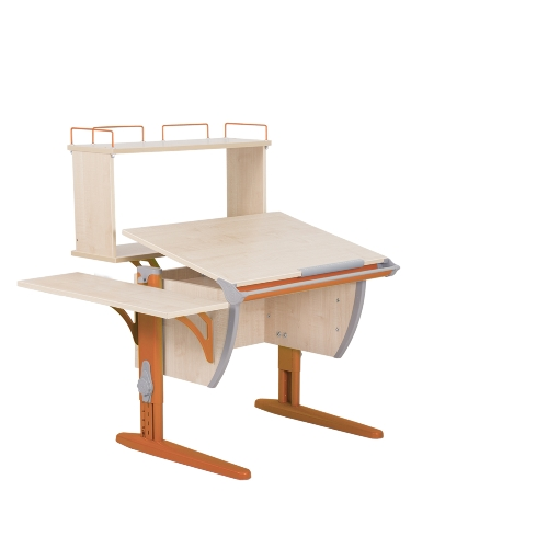 Парта Дэми СУТ 14-02Д (парта 75 см+задняя двухъярусная приставка+боковая приставка)