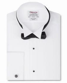 Мужская рубашка под бабочку, под смокинг белая T.M.Lewin приталенная Slim Fit (45253)