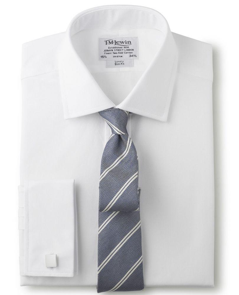6a51a116d86 английская Мужская рубашка под запонки купить Москва белая T.M.Lewin ...