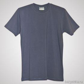 Мужская серая футболка стрейч без рисунка REDFORT