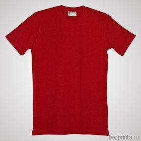 Мужская красная футболка стрейч без рисунка REDFORT