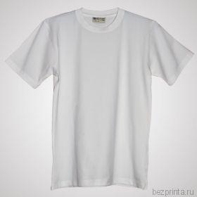 Мужская белая футболка стрейч без рисунка REDFORT