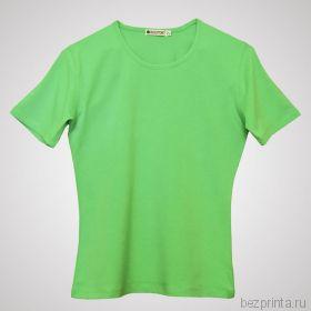 Женская светло-зеленая футболка стрейч без рисунка REDFORT