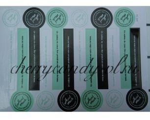 Наклейка стикер для упаковки Hand made,  12 наклеек