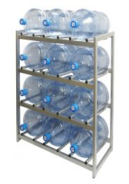 """Стеллаж для хранения бутилированной воды """"БОМИС-12Р"""" на 12 бутылей."""