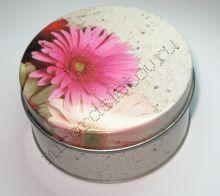 "Подарочная коробка ""Розовый цветок"" круглая"