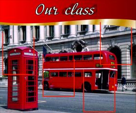 "Стенд ""Our class"" 4 кармана А4, размер 96х80 см."