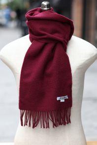 шарф 100% шерсть ягнёнка , благородный цвет бургундского вина,  ,плотность 6