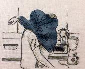 Схема для вышивки крестом Кухонная парочка. Отшив