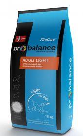 ProBalance Adult Light д/взрослых собак с нормальной активностью 15кг