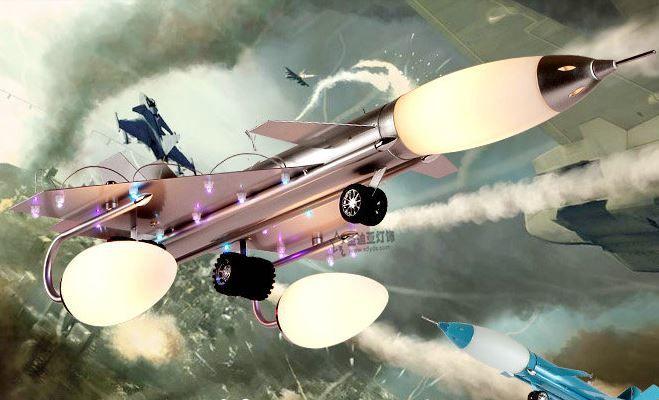 Светильник для детской Самолет-истребитель