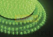 Дюралайт светодиодный, постоянное свечение(2W), зеленый, 220В, бухта 100м