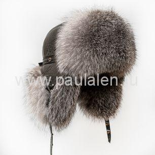 Мужская шапка-ушанка Пилот из меха Блюфрост B001_K