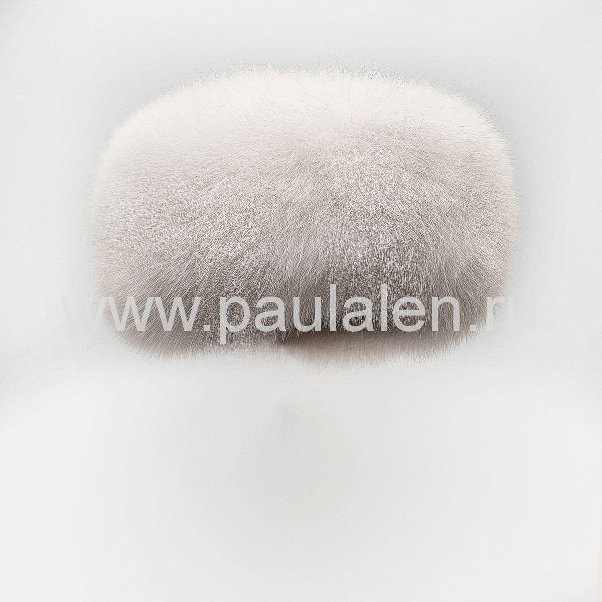 """Меховая женская шапка """"Боярка"""" из песца A021"""