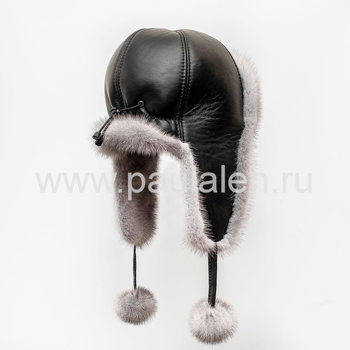 Меховая шапка из норки сапфир