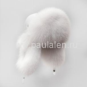 Женская шапка ушанка из меха песца. Артикул A011