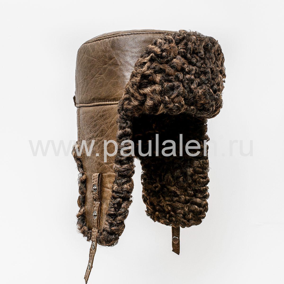 Мужская шапка-ушанка из меха Каракуля