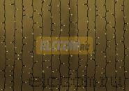 """Гирлянда """"Светодиодный Дождь"""" 2х1,5м, постоянное свечение, темно-зеленый провод, 220В, диоды ТЁПЛО-БЕЛЫЕ, NEON-NIGHT"""