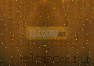 """Гирлянда """"Светодиодный Дождь"""" 2х1,5м, постоянное свечение, прозрачный провод, 220В, диоды ЖЁЛТЫЕ"""