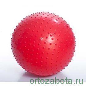 Мяч для ЛФК (массажный, АВС, с насосом, 65см, красный) М-165
