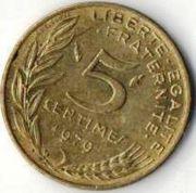 5 сентим. Франция. 1979 год.