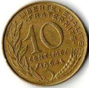 10 сентим. Франция. 1964 год.