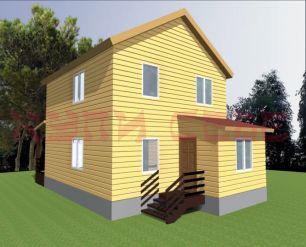 Проект Дом 2-этажный 7х8м, 119,6 м2 + терраса 14 м2