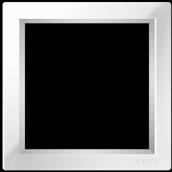 "Однопостовая рамка белая CGSS ""Практика"" PL-P101-WCG"