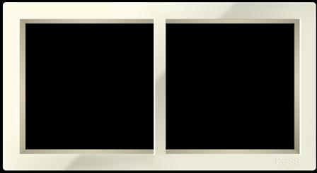 """Двухпостовая рамка бежевая CGSS """"Практика"""" PL-P102-BGG"""
